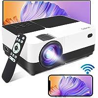 Vidéoprojecteur WiFi Supporte 1080P 6000 Lumens,Gobran Rétroprojecteur Screen Mirroring,Mini Projecteur Video Audio…