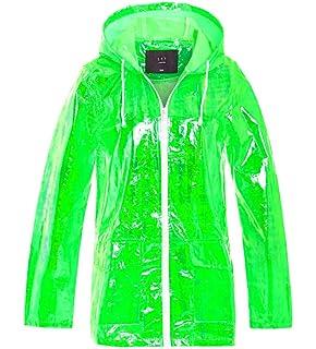 Blue Holographic Raincoat Various Sizes 8-16 Festival Fancy Dress