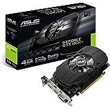 Asus PH-GTX1050TI-4G Nvidia GeForce grafikkort (PCIe 3.0, 4 GB DDR5-minne, HDMI, DVI, DisplayPort)