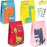 LOVEXIU Bolsa de Dulces de Dinosaurio,20pcs Bolsa de Papel Dinosaurio,Bolsa de Regalo Cumpleaños,Bolsas de Candy,Papel Regalo