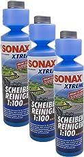 SONAX 3X 02711410 Xtreme ScheibenReiniger 1:100 NanoPro Konzentrat 250ml