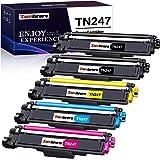 Zambrero Compatible Brother TN247 TN243 TN-247 TN-243 Cartouche de Toner pour Brother MFC-L3770CDW MFC-L3750CDW MFC-L3710CW D