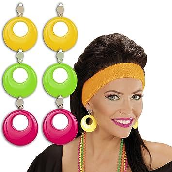 Modeschmuck ohrringe creolen  Ohrringe Creolen Modeschmuck grün 80er Jahre Damen Schmuck Mode ...