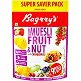 Bagrry's Crunchy Muesli Fruit N Nut with Cranberries 750 GM Pouch