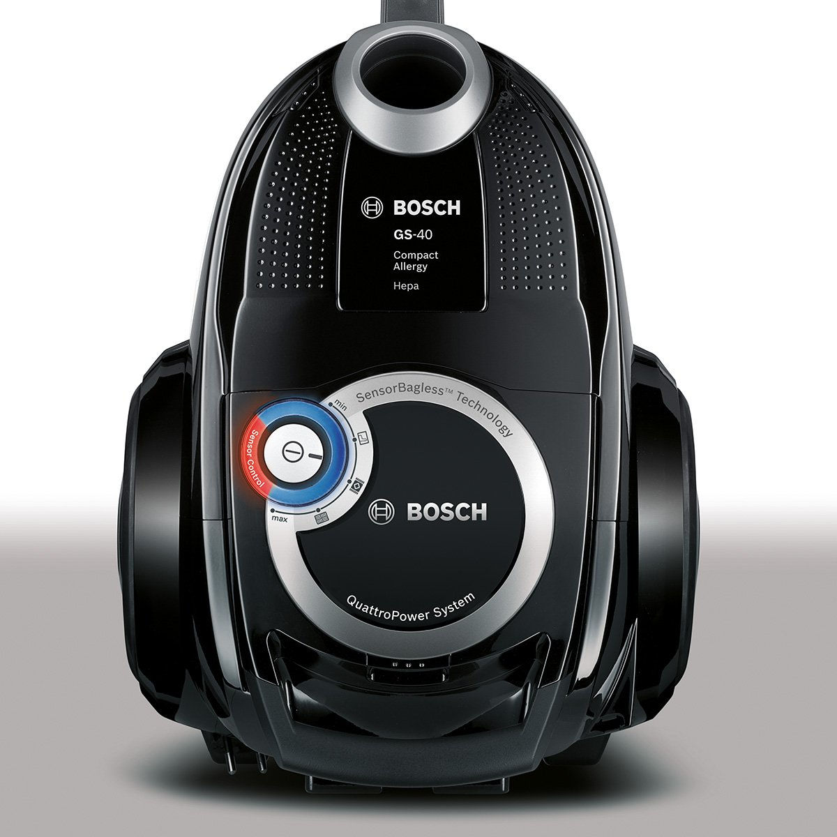 Bosch BGC4U330 Bodenstaubsauger Runn'n (EEK A, beutellos, QuattroPower System, SensorControl) schwarz