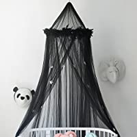 Aboqueen Yarn Mosquito Net Bed Canopy Dome Prince & Princess Play Tent & Game House for Boys, Girls - Daughters and Granddaughters Black