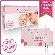 MediVinius Ovulationstest 30 Streifen - Fruchtbarkeitstest für Frauen - Teststäbchen für Ovulation Tests - Eisprung Teststrei