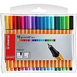 Fineliner - STABILO point 88 Mini Förpackning med 18 Blandade färger