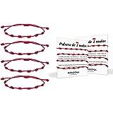 Possidonia Pulsera Roja 7 Nudos | Amuleto Hilo Rojo | Pulsera de la Suerte y Protección | Unisex, Ajustable| Buena Suerte | P