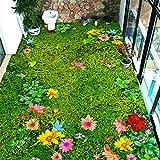 JRBB 3D-Land Stil Balkon Teppich Sofa Tischsets Schlafzimmer Bett und Bad Rutschfeste Fußmatte Custom 400 ×.? Rasen