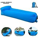 Luxloyala 18 LuftSofaBlau3C7V Aufblasbares Sofa,Luftcoach Hochwertige Wasserdichtes,air Lounger luftsofa Blau Eine Größe