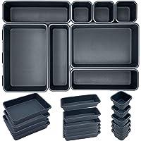 16 pièces Organisateur Tiroir Bureau Cuisine Plateaux Rangement de Tiroir Séparateurs de Tiroir en Plastique Très…