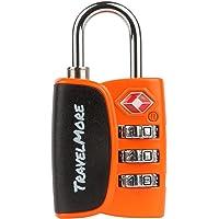 1er-Pack Open Alert Indikator TSA-Schloss 3-stellig - Zahlenschloss mit Öffnungsanzeige - Gepäckschloss Kofferschloss…