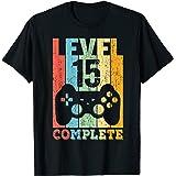 15 Ans Anniversaire Garçon Fille Cadeau Humour Level 15 T-Shirt