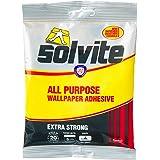 Solvite 1591219 All-Purpose Wallpaper Adhesive,Wallpaper Paste hangs up to 5 Rolls (1x92 g Sachet)