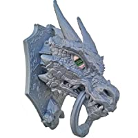 Unique Shape Plastic Game of Thrones Dragon Head Door Knocker Self Sticky, Easy Installation (13x8x8 cm, Grey)