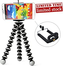 Aeylight Flexible Gorilla Tripod Stand for Mobile Phones and Camera's, 6-inch(GR06)