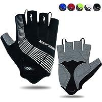 Souke Sports Cycling Gloves Half Finger Bicycle Gloves Moutain Bike Gloves For Men Women Padded Anti-Slip MTB Fingerless…