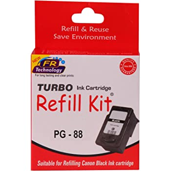 Turbo Ink Cartridge Refill Kit For Canon pg 88 Black Ink Cartridge