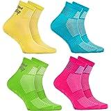 Rainbow Socks - Niño Niña Deporte Calcetines Antideslizantes ABS de Algodón - 4 Pare