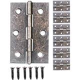 FUXXER® - 6x antieke scharnieren, metalen scharnieren, ijzeren scharnieren, bronzen design, voor kasten kastdeuren kisten doz