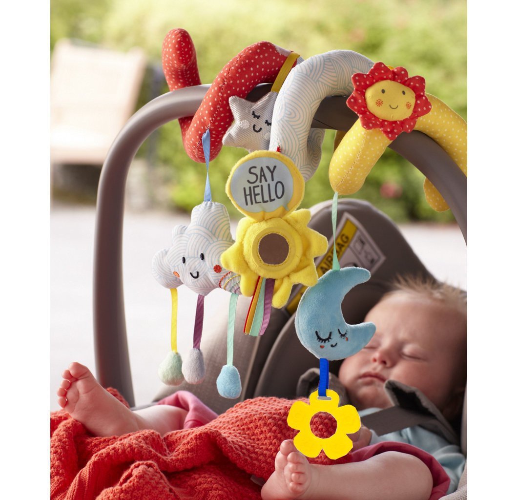 Wadila Car Seat Toy Baby Pram Stroller Toys Spiral Activity Hanging Cot Toys for Baby Boys Girls 2