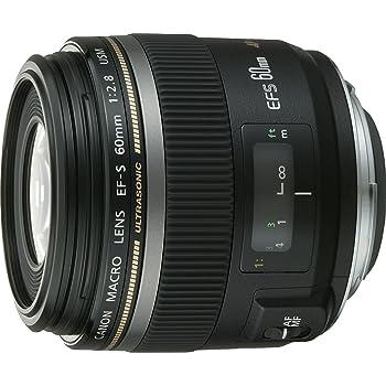 Canon 60/2,8 Macro USM - Objetivo para Canon (distancia focal fija 60mm, apertura f/2.8), Negro