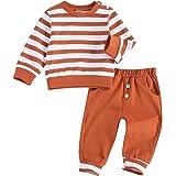 WangsCanis 2 unidades de chándal de bebé de manga larga para bebé, estilo informal, con bolsillos para otoño e invierno