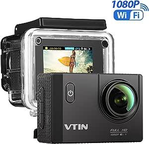 Vtin Action Kamera 1080p Hd Wifi Sports Cam 2 0 Zoll Unterwasserkamera Helmkamera Wasserdicht 170 Ultra Weitwinkel Mit 2 Batterien Und Zubehör Kits Sport Freizeit