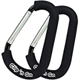 PBnJ baby Clip n Go - 2 Pack X-Large Stroller Organizer Hook Clip for Purse Shopping & Diaper Bags