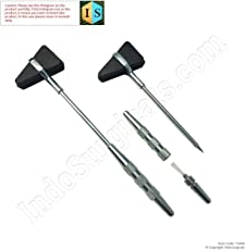 Indosurgicals Percussion Chrome Plated Handle Knee Hammer Taylor Model - 1 Pc.