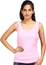 ALBATROZ Cotton U Neck Ladies Plain Spaghetti Tank Top Vest Camisole Sando for Women