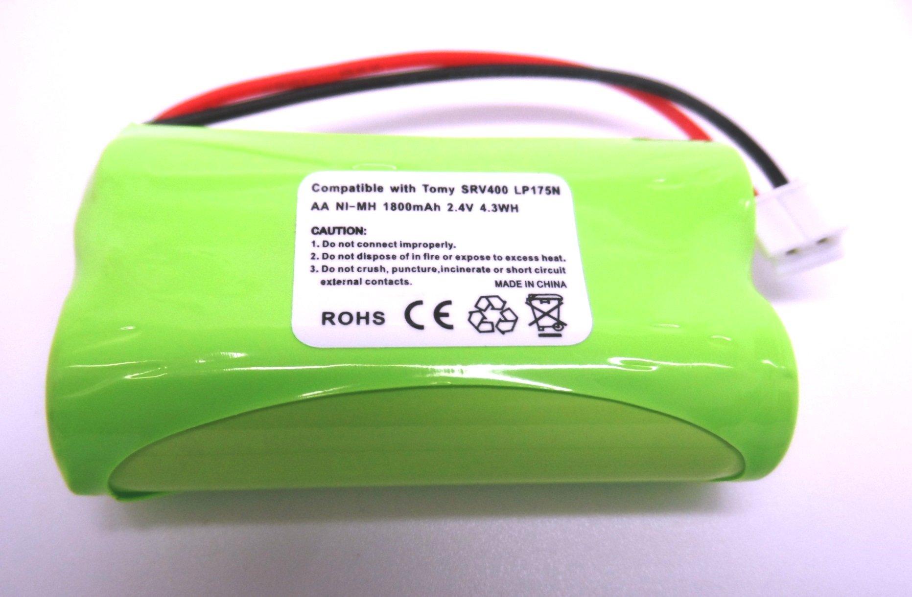 Batteria di Ricambio per digitale per il monitoraggio dei neonati Tomy SRV400, ricaricabile, 1800�m