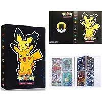 Raccoglitore Porta Carte Compatibile Con Pokemon, Album Cartella Libro Compatibile Carte Con Pokemon, 30 Pagine-4 Tasche…
