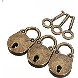 3 stks oude vintage antieke stijl mini hangsloten slot met sleutels