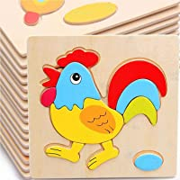 Forever Kidzz Wooden 3D Puzzle Educational Toys (Set of 6 Puzzle Board), Colorful Learning Educational Board for Kids…