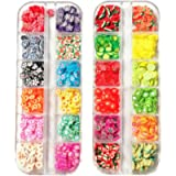 Beaupretty 2 Boxes 3D Fruit Polymer Slices DIY Nail Art Slices Colorful Crystal Flower Fruit Clay Nail Slice Nails…