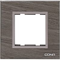 CONA 10502 Status Glassic 2 Modular Plate, Oak Wood - Single|2 Module Switch Plates|Cover Plate|2M Polycarbonate Switch Frame