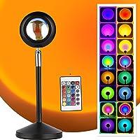 Lampe Sunset Projection Lampe LED USB Coucher de soleil Rotation Lampe d'ambiance romantique Éclairage de chambre…