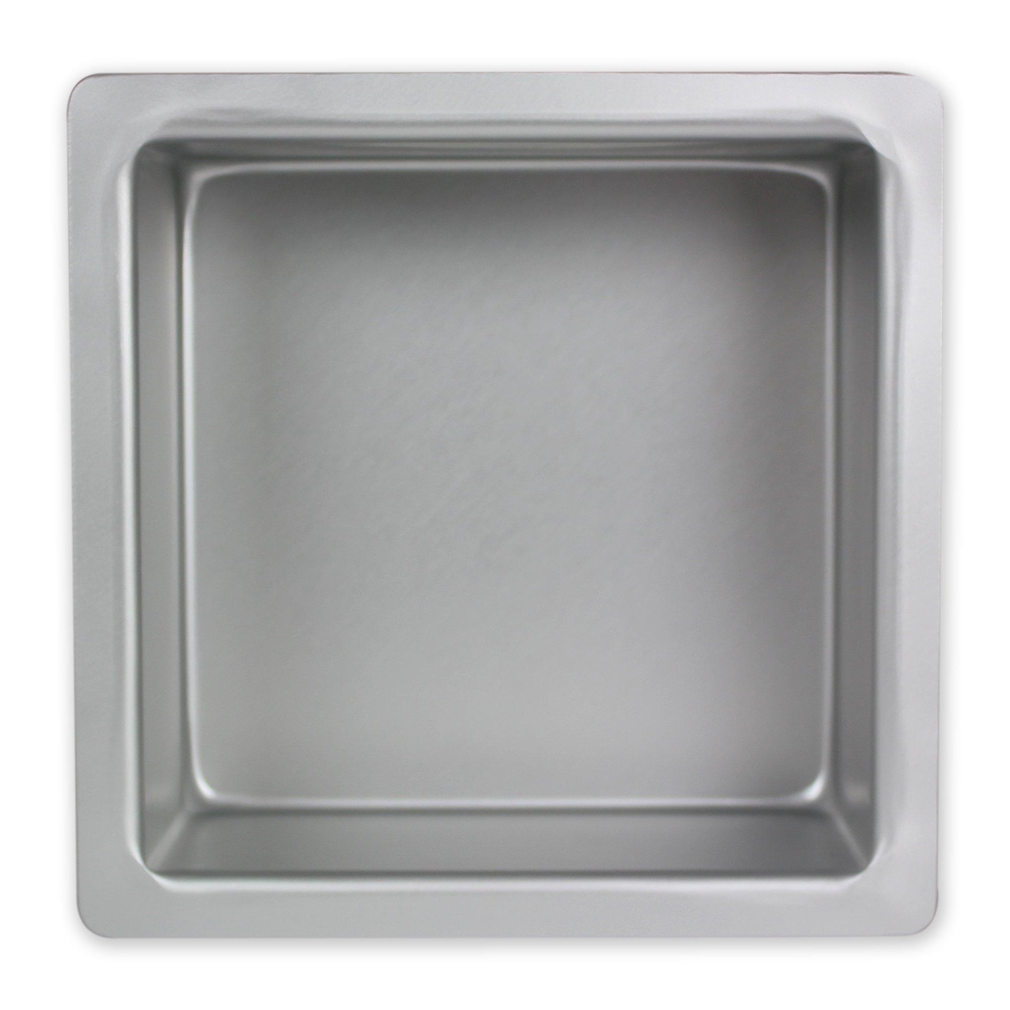 PME - Teglia Professionale Quadrata in Alluminio Anodizzato 10 x 10 x 7.5 cm