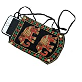 Kuber Industries Black Women's Mobile Cover With Purse Pocket And Sari Hook (KUBERBGH72)
