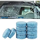 Elenxs 100pcs / Set del Carro del Coche del Lavaparabrisas Parabrisas Jabón Pieza sólida de Lavado Limpieza de los Cristales