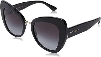 Dolce & Gabbana 0DG4319 501/8G 51 Occhiali da Sole, Nero (Black/Gradient), Donna