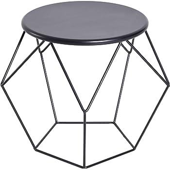 IDIMEX Table dappoint BENNO Table Basse Ronde Bout de canapé Design Retro Vintage  Industriel avec Pieds en épingle en métal chromé ... 083a77abf457
