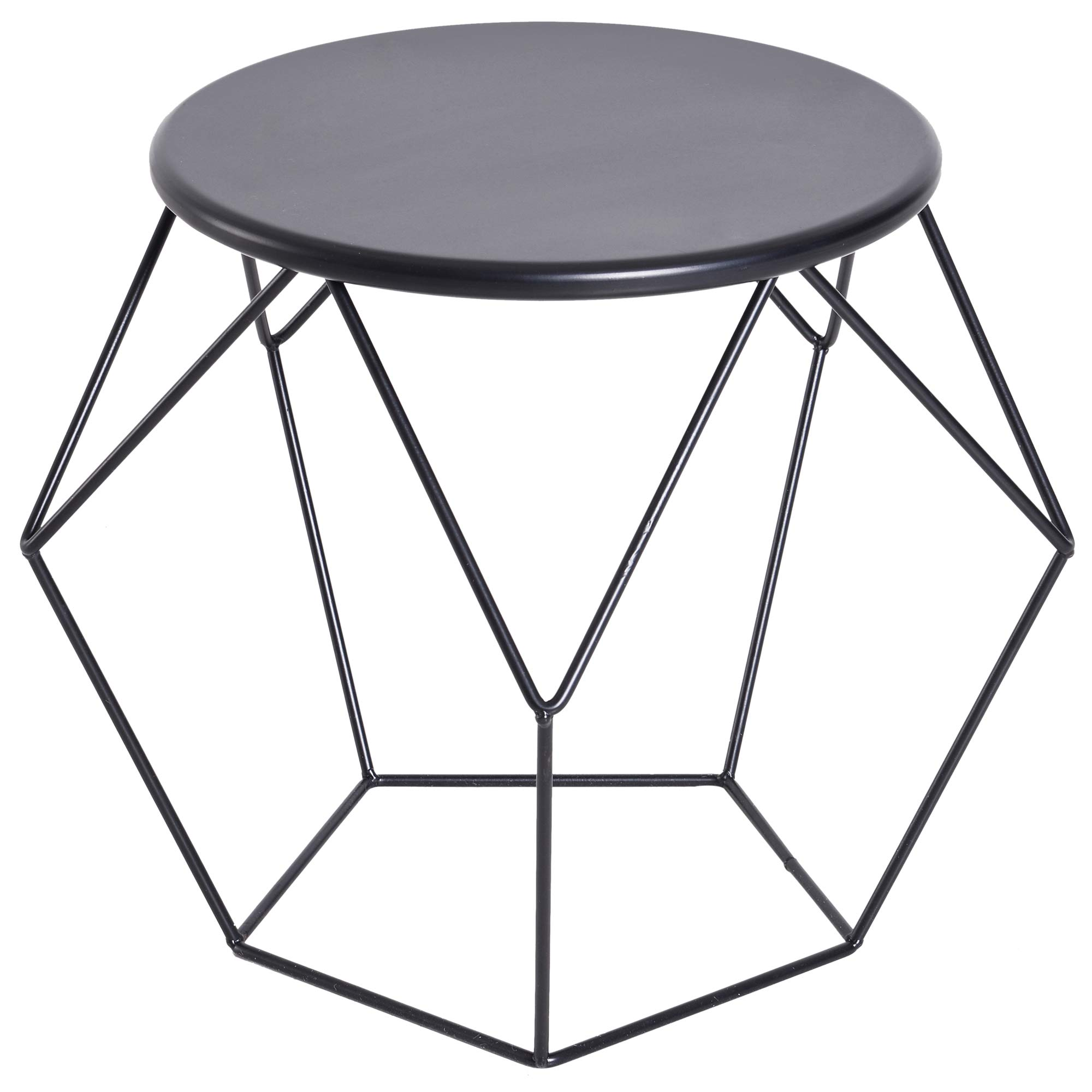 Acier Rétro Ronde Basse Cm Déco 40 Design Noir Ø X Table Royale Dim54l Homcom Plateau Industriel 44h Néo mnOvNw08