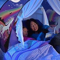 MOCHOAM Traumzelte Klappzelt für Kinder Starry Fantasy Zelt Zeltzelt für Kinder (mit LED-Leuchten)