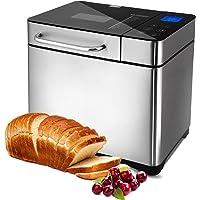 Machine à pain 710 W Backmeister avec boîte à ingrédients automatique, 19 programmes, Machine à pain en acier inoxydable…