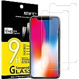 NEW'C 2 Pezzi, Vetro Temperato Compatibile con iPhone 11 PRO e iPhone X e iPhone XS, Pellicola Prottetiva Anti Graffio, Anti-