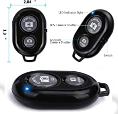 Rextan Bluetooth Wireless Remote Shutter Photo Clicker Controler Compatible with iOS and Android Smartphones