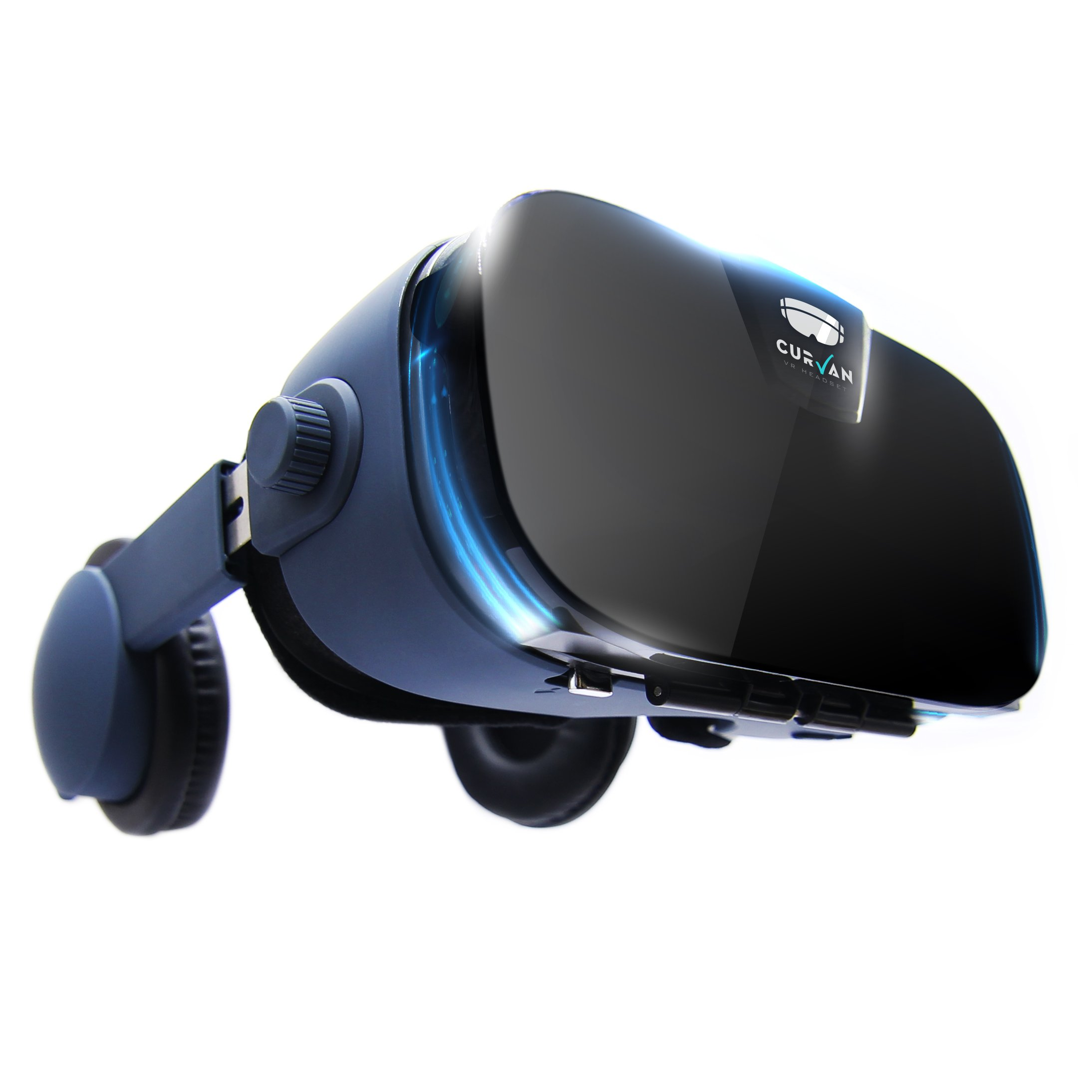 CURVAN VR Headset 3D – Casque de Réalité Virtuelle pour Jeux et Films en 3D | IOS et Android Smartphones – iPhone / Samsung / LG / Huawei / Sony | Fit pour les Telephones 4 «– 6.3» | Lunettes de Réalité Augmentée HD | PD + FD | Léger 357g